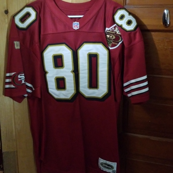 big sale 44894 df414 Jerry Rice 49ers 50th Season Authentic Jersey
